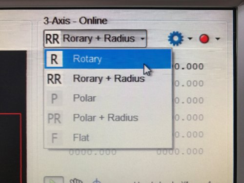 One-click split between working modes as rotary, radius, polar and flat