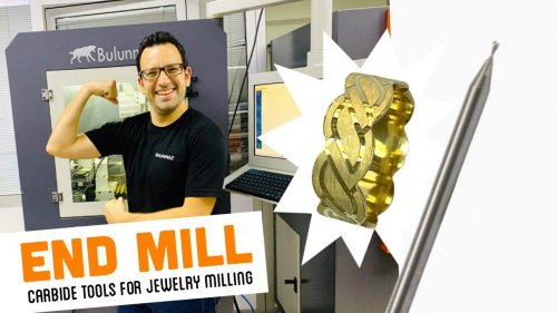 END MILL TOOL for Jewellery Milling Machine