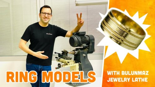NEW WEDDING RING MODELS with Jewelry Lathe